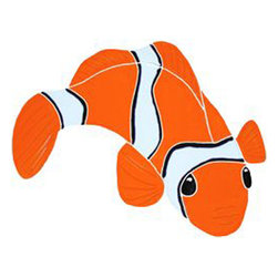 "Glass Tile Oasis - Small Clown Fish Pool Accents Orange Pool Glossy Ceramic - Sheet size:  5"" x 7""     Tile thickness:  1/4""      Sheet Mount:  Mesh Backed     Sold by the piece     - We offer six lines of in-stock designs ready for immediate delivery including: The Aquatic Line  The Shadow Line  The Hang 10 Line  The Medallion Line  The Garden Line and The Peanuts® Line.All of the mosaics are frost proof  maintenance free and guaranteed for life.Our Aquatic Line includes: mosaic dolphins  mosaic turtles  mosaic tropical and sport fish  mosaic crabs and lobsters  mosaic mermaids  and other mosaic sea creatures such as starfish  octopus  sandollars  sailfish  marlin and sharks. For added three dimensional realism  the Shadow Line must be seen to be believed. Our Garden Line features mosaic geckos  mosaic hibiscus  mosaic palm tree  mosaic sun  mosaic parrot and many more. Put Snoopy and the gang in your pool or bathroom with the Peanuts® Line. Hang Ten line is a beach and surfing themed line featuring mosaic flip flops  mosaic bikini  mosaic board shorts  mosaic footprints and much more. Select the centerpiece of your new pool from the Medallion Line featuring classic design elements such as greek key and wave elements in elegant medallion mosaic designs."
