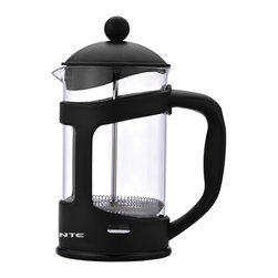 Ovente - Ovente 34-Ounce Black French Press Coffee Maker - This French press coffee maker is a great way to start the morning, perfecting the basic approach to making fresh coffee and tea. This press is dishwasher safe, so you can use it each morning to create your favorite brew from scratch.