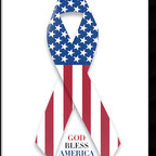 Amanti Art - U.S. Flag and Ribbon Framed Print - Join the ribbon campaign and show your patriotism with this patriotic framed print - God Bless America!