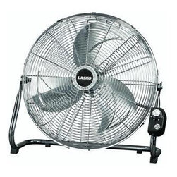 "LASKO METAL PRODUCTS - 20IN HI VELOCITY FAN 3 SPEED - High velocity floor fan or can be mounted on the wall. Features include durable, tubular steel construction, rubber scuff pads to protect floor surfaces, and front mounted controls. Comes with a one piece QuickMount wall bracket for conversion to a wall u  nit. Bracket is designed for 16"" wall studs. Safety features include a 6' grounded cord. Includes comfortable carrying handle. ETL Listed. Size In=20Finish=Chrome  This item cannot be shipped to APO/FPO addresses.  Please accept our apologies"