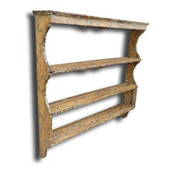 EuroLux Home - New Plate Rack White/Cream Oak Wood - Product Details