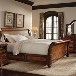 Aspenhome - Traditional Sleigh Storage Bed (King) -