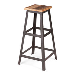 ZUO - Cora Barstool - Bar seat seekers, search no further. Your new epic find is the Cora Barstool's wood and metal pyramid. Pull this sleek seat up to the bar for a bracing shot of whiskey.