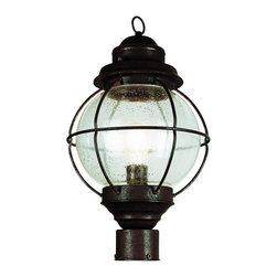 "Trans Globe Lighting - Trans Globe Lighting 69905 RBZ Onion Lantern Post Top 19"" Bronze - Bask in the ocean breeze next to a classic onion lantern. An outdoor lighting collection from Trans Globe for sea worthy coastal landscapes."