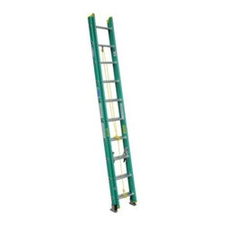 Werner D5920-2 20 ft. Fiberglass Extension Ladder - Ideal for a variety of tasks around the home or the jobsite, the Werner D5920-2 20 ft. Fiberglass Extension Ladder gives you the strength, stability, and height you need to get the job done. This ladder features a durable fiberglass construction with a 225-pound duty rating. Its large gravity spring locks keep the extension stable. Slip-resistant shoe pads and spur plates offer a secure footing. Traction-Tred D-rungs feel safe and secure.About WernerWerner is an industry leader that has manufactured and distributed ladders and climbing equipment for over 60 years. Werner ladders are found on more trucks and job sites than all other brands combined. Each product offers a state-of-the-art design and manufacturing process, creating professional-grade products that are made to be utilized in the home as well as on the job site. Werner Co. products are built to meet or exceed all applicable American National Standards Institute (ANSI) and Occupational Safety and Health Administration (OSHA) code requirements.