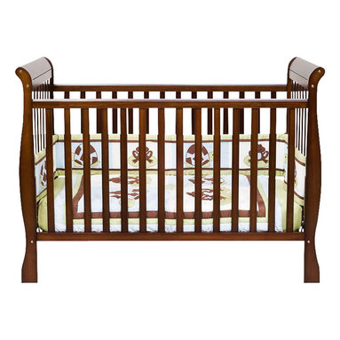 Da Vinci - DaVinci Jamie 4-in-1 Convertible Wood Baby Crib in Espresso Finish - Da Vinci - Cribs - M7301Q - This crib is a lullaby you can touch.  It's engineered not just for safety and convenience but also for serenity and comfort. As your baby grows convert the crib to a toddler bed with a safety guard rail (M3099 sold separately) or remove the safety guard rail for a charming day bed perfect for the playroom. The crib can also be transformed into a full size bed (rails can be purchased at furniture stores). Furnish your complete nursery with the Emily changer.