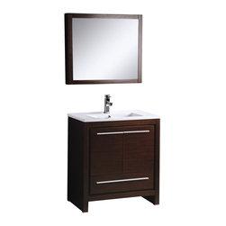 """Adornus - Adornus ALEXA-30-WEN-C Wenge Vanity - * Main Cabinet 30"""""""