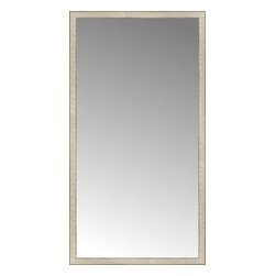 "Posters 2 Prints, LLC - 38"" x 71"" Libretto Antique Silver Custom Framed Mirror - 38"" x 71"" Custom Framed Mirror made by Posters 2 Prints. Standard glass with unrivaled selection of crafted mirror frames.  Protected with category II safety backing to keep glass fragments together should the mirror be accidentally broken.  Safe arrival guaranteed.  Made in the United States of America"