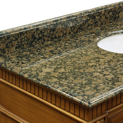 Bellaterra Home - Backsplash-baltic brown - genuine Baltic brown granite.