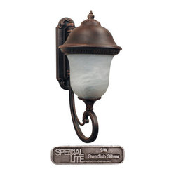 Special Lite - Special Lite F-3827 Beaumont 3 Light 26 Inch Tall Outdoor Wall Sconce - Special Lite F-3827 Beaumont Three Light 26 Tall Outdoor Wall SconceFeaturing delicate French neoclassical themes, the Beaumont 26 inch tall bottom mount wall sconce features intricate floral motifs, delicate scrolled arms, and gorgeous bell shaped glass for an elegant addition to the exterior of any home.Special Lite F-3827 Features: