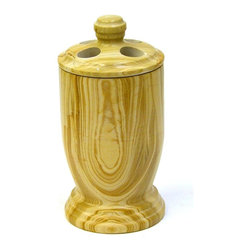 Nature Home Decor - Toothbrush Holder in Teakwood Marble - Teakwood Marble is a very unique stone available in limited quantities. Nature Home Decor offers a selection of bathroom accessories in Teakwood Marble.