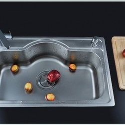 Kitchen Sinks - Stainless Steel One Bowl Kitchen Sink--FaucetSuperDeal.com