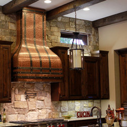 Art of Rain - Tall Camillia Copper Range Hood - All hand made from a single sheet of copper into a beautiful kitchen art work. Art of Rain specializes in custom copper range hoods to deliver quality work at affordable prices. We bring your ideas to life, to personal every design and detail of your range hood. It's time to make your kitchen a focal piece of your home!