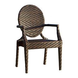 Great Deal Furniture - Townsgate PE Wicker Outdoor Chair - Function and style — this outdoor wicker chair has it all. It's built to withstand the elements and easy to clean. Buy a few to keep on hand for those times when extra guests show up.