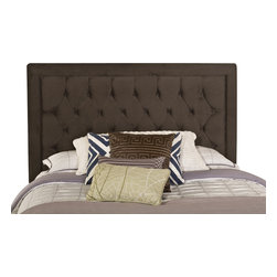 Hillsdale Furniture - Hillsdale Kaylie Headboard in Pewter - King|No|King - Tall, elegant, and impactful, the Kaylie Bed is ready for royalty. With its statuesque headboard and compact footboard, button and tuck styling, and inviting microfiber fabric, the Kaylie Bed is a statement in luxury.