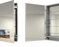 Electric Mirror - Electric Mirror Seamless SEA-154-19.25X40.00 - Electric Mirror Luxury Medicine Cabinet with TV - SEA-154-19.25X40.00