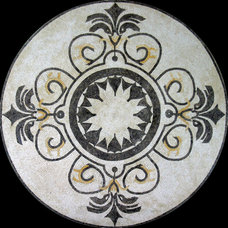 Mediterranean Floor Tiles by NewZeugma Custom Luxury Mosaics and Iznik Tiles