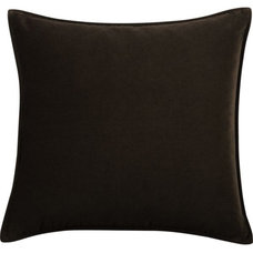 """Tempo Velvet 20"""" Chocolate Pillow in Summer Sale   Crate and Barrel"""