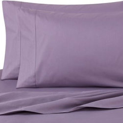 Royale Linens, Inc. - Cotton Percale Sheet Set in Purple - Bold or bright, this simple, yet elegant sheet set will give your bed a modern look with a pop of vibrant color. Soft and smooth to the touch.