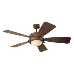 "Montecarlo - Montecarlo MC-5VIR52RBD Vintage Industrial 52"" Ceiling Fan Roman Bronze - Montecarlo Vintage Industrial Model MC-5VIR52RBD in Roman Bronze with Roman Bronze Finished Blades."