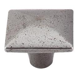 "Top Knobs - Square Iron Knob Smooth - Cast Iron (TKM263) - Square Iron Knob Smooth 1 3/8"" - Cast Iron"