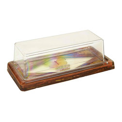 Butterfly Butter Dish - Vintage midcentury plastic and resin butter dish with a butterfly base.