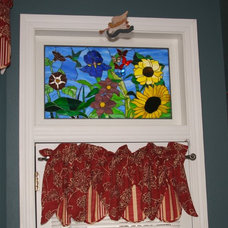 Traditional Window Treatments Custom stained glass