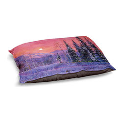 DiaNoche Designs - Dog Pet Bed Fleece - Rising Snow Moon - The comfort of your pet is of the utmost importance. But shouldn't their furniture match yours? DiaNoche Designs gives your pet some clout with our stable of international artists designs on their new bed.