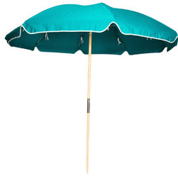 Sunrise Chair Company - Sunrise Beach Umbrella, Fiberlite Frame -  Persian Green - Sunrise hearty beach umbrellas are perfect for a sunny day on the beach with family and friends & provide a stylish way to enjoy fun in the sun while keeping yourselves and your belongings cool in the shade.