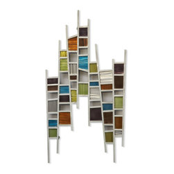 NOVA Lighting - Colored Windows Wall Art - Eye catching ground steel is accented with a playful retro modern color palette. Pair two or together for an unexpected, dramatic statement.