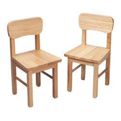 Gift Mark - Gift Mark Home Kids Children A Pair Of Round Chairs Natural - The Gift mark Round Back Chairs, are Solid and Durable. These Chairs will add a touch of sophistication to any child's room or Play Room. Intended specifically for your Child. Children Play for Hours on end. Our Table and Chair Sets clean easily with any Quality Furniture Polish. All Tools Included for Quick and Easy Assembly. The 1409 Chairs are Designed to go with the 1407, Tables and Chair Set