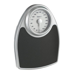 "Conair Products - Extra-Large Dial Analog Precision Scale - 350-lb capacity. Easy-to-read 6.5"" diameter rotating dial. Extra-large dial. Extra-large comfort grip platform 13"" x 17"". Black mat & silver painted frame. 10-year limited warrantyWeight management just got more stylish with the Conair Analog Precision Scale. It has an oversized, easy-to-read, extra-large 6.5"" diameter rotating dial plus an extra-large, comfort grip 13"" x 17"" platform with a black mat and silver painted frame, which looks great in any bathroom."