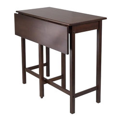 Winsome - Winsome Lynnwood Drop Leaf High Table in Antique Walnut - Winsome - Dining Tables - 94149 -This versatile high table is space saving and functional.