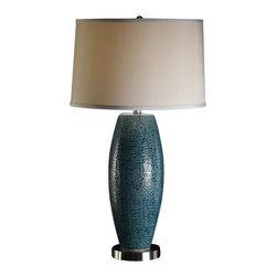 Crestview Collection - Crestview Collection CVAP1348 Melrose Blue Table Lamp - Crestview Collection CVAP1348 Melrose Blue Table Lamp