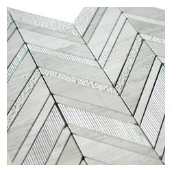Stone & Co - Timber White Marble and White Marble Mix Monarch Mosaic Tile - Timber white marble and white marble mix monarch mosaic tile