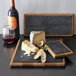 Slate + Wood Boards - Who doesn't love cheese? These sleek slate and wood boards would make the perfect gift for the chic cheese lover in your life.