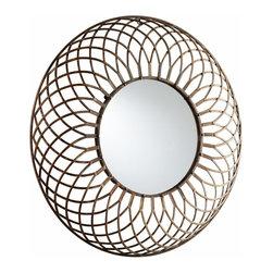 Round Bronze Iron Decorartive Fairplex Wall Mirror - *Fairplex Mirror