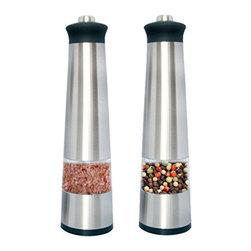 HomeStart - Homestart Electric Salt & Pepper Grinder With Led Light ( Set Of 2 ) - Electric salt or pepper Grinder, easy to use Mill