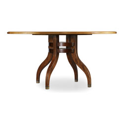 Hooker - Hooker Palisade 60-Inch Round Dining Table - Embrace a more modern aesthetic with traditional roots when you add this 60-Inch Round Dining Table to your home. The Sycamore Maple finish on the table top and Walnut-finished base create a beautiful two-tone look that's warm and rustic. A shapely pedestal complements the round top, for a simple and refined appearance. Perfect for formal or casual dining, this round dining table makes a beautiful addition to your dining area.