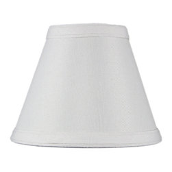 Home Concept - Hard Back Empire Candle Clip Lamp Shade - Home Concept Signature Shades feature the finest premium linen fabric.