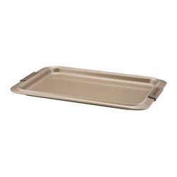 Anolon - Anolon Bronze Collection Bakeware 10x15-inch Cookie Pan - The cookie pan is an essential piece to any baker's collection. This heavy weight carbon steel cookie sheet is coated with a durable bronze colored nonstick surface providing optimum food release for easy cleaning.