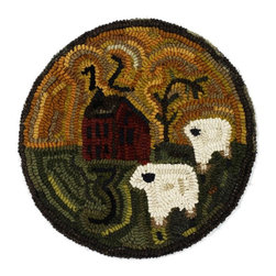 Homespice Decor - Homespice Decor Saltbox 15 in. Round Chair Pad Multicolor - 211064 - Shop for Cushions and Pads from Hayneedle.com! Under golden skies two ewes wander for the barn. The hand-hooked Homespice Decor Saltbox Chair Pad brings a thoroughly unique bit of primitive art into your space.About Homespice DecorProducing quality homemade products since 1998 Homespice Decor has become an industry leader in braided rugs (outdoor indoor wool cotton) and has expanded its line to include penny rugs rag rugs and its newest - Supernova rugs - which feature a swirling star braid design. Formerly known as J Quilts Company Homespice Decor shifted its focus from quilts to rugs pouring itself into the intricate details of braided rug craftsmanship. Homespice Decor is committed to providing affordable braided rugs of the highest quality in an abundance of sizes and styles.