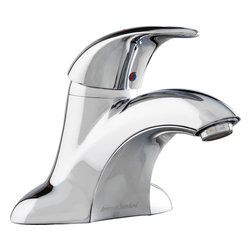 American Standard - American Standard 7385.004.002 Reliant 3 Lavatory - Style and comfort go hand in hand. This sleek, ergonomic model from our Reliant 3? Collection is ideal for casual bathrooms, and even modern ones. The faucet is easy to install by yourself?and by hand?using Quick Spin? Nuts. To help prevent accidental scalding, the metal ADA-approved handle has an adjustable hot-limit safety stop.