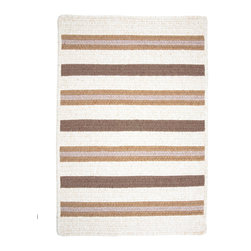 Colonial Mills, Inc. - Allure, Haystack Rug, Sample Swatch - A weekend feeling every day. Sleek stripes in softly heathered colors bring the fashionable comfort of your favorite polo shirt to your floors. Woven from polypropylene and wool, this rug is reversible and features squared corners for a modern update to the traditional braided construction.