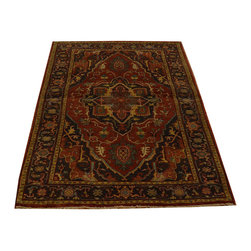 Antiqued Serapi Recreation Hand Knotted Oriental Rug 3x5 Hand Spun Wool SH14745 - This collection consists of fine knotted rugs.  The knots per square inch means more material in the rug as well as more labor.  This leads to a finer rug and a more expoensive rug.  Classical and traditional persian motifs are usually used as designs in these rugs.