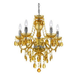 angelo:HOME - Angelo: Home Fulton Traditional Chandelier X-H5-3258 - Angelo: Home Fulton chandelier, designed by Angelo Surmelis for AF Lighting. 5 light in gold, 23 H x 21.5 D. Made of plastic dripping with tear drops and beads. Can be hardwired or swag. Simple assembly required. Due to hand crafting, no 2 alike.