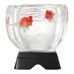 Franz Porcelain - FRANZ PORCELAIN COLLECTION Pearl Scale Goldfish Lucite Sculpture FL00093 - Finished In Lead Free Glazes * Hand Painted By Franz Porcelain Artisans * FDA Approved Food/Plant Safe * New In The Original Box