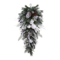 Silk Plants Direct - Silk Plants Direct Snowed Pine Cone, Snowball and Pine Teardrop (Pack of 2) - Pack of 2. Silk Plants Direct specializes in manufacturing, design and supply of the most life-like, premium quality artificial plants, trees, flowers, arrangements, topiaries and containers for home, office and commercial use. Our Snowed Pine Cone, Snowball and Pine Teardrop includes the following: