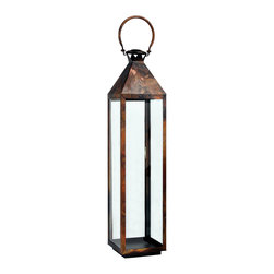"""Riado - Classic Mogador Lantern 40"""" BC - Double encased and rounded handles allow comfortable carrying"""