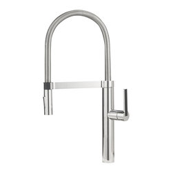 Blanco - Blanco Culina Semi-Pro Faucet - Our new BLANCO CULINA Semi-Professional design combines high performance with high style. Notice the sleek closed coil, the streamlined handle inlay, and the magnetic spray holder - just a few of the details sure to add surprise and delight.